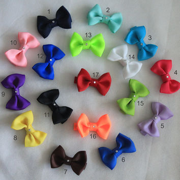 Infant Girls Hair Bow Set Small Tiny Little Baby Newborn Shopping For Baby Girl Childrens Kids Boutique Hair Clip Hairbows Set of 5,10,15,17