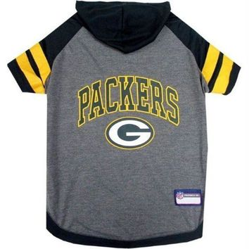 PEAPYW9 Green Bay Packers Pet Hoodie T-Shirt