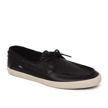Vans Chauffeur Leather Shoes - Mens Shoes - Black