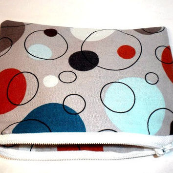 Change purse geometric coin purse pouch by redmorningstudios