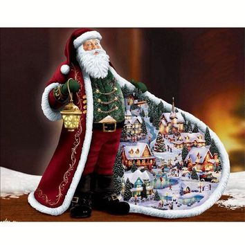 5D DIY Diamond Embroidery Santa Claus Cross Stitch Full Square Drill Diamonds Panting Christmas Gifts Mosaic Needleowrk