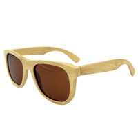 Natural Bamboo Sunglasses Vintage Men Women Handmade Sun Eyewear