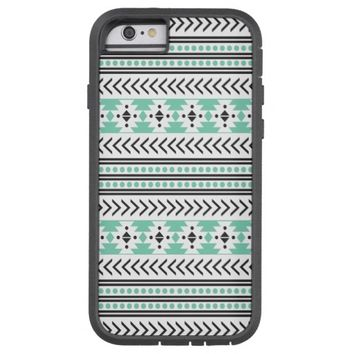 Trendy Aztec Tribal Print Geometric Pattern Green Tough Xtreme iPhone 6 Case
