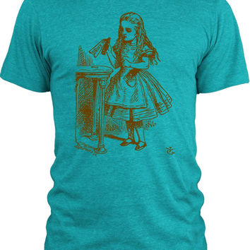 Big Texas Alice in Wonderland - Drink Me (Brown) Vintage Tri-Blend T-Shirt