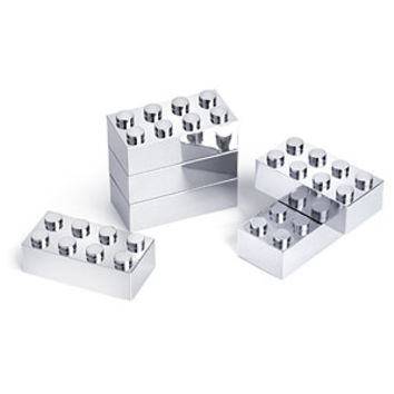 Executive Building Brick Set (Chrome)