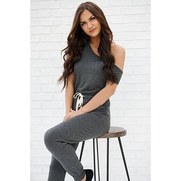Cherish This Jumpsuit (Charcoal)