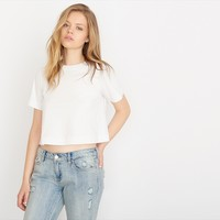 Boxy Swing Cropped Tee