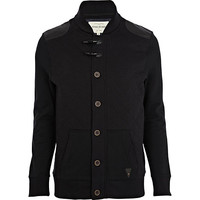 River Island MensBlack quilted sweat duffle jacket