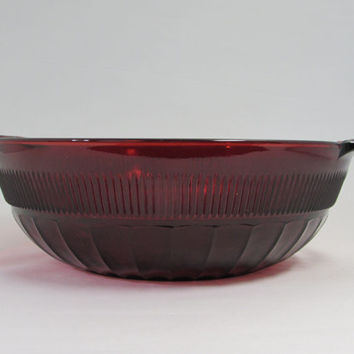 Royal Ruby Coronation Bowl Large Fruit Serving Bowl
