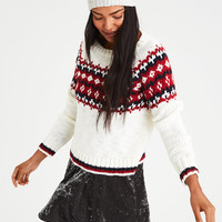 AE Fairisle Chunky Knit Sweater, Cream