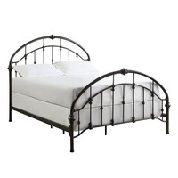 HomeVance Fiona Metal Bed Frame - Full (Black)
