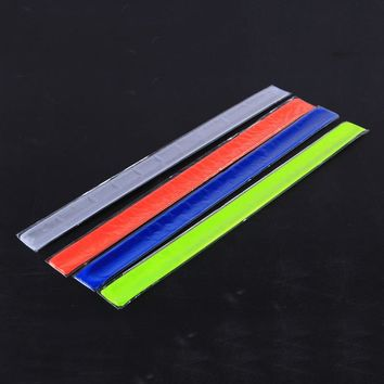New 1PC Running Fishing Cycling Reflective Strips Warning Bike Safety Bicycle Bind Pants Leg Strap Reflective Tape