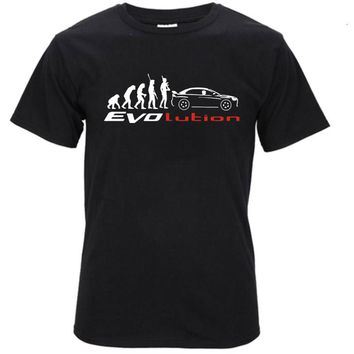 2017 Newest Creative Mitsubishi Lancer Evo Evolution 3D Printed Men's 100% Cotton T Shirt Summer Popular Short Sleeve Tees