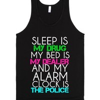 Sleep Is My Drug-Unisex Black Tank