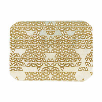 "Pom Graphic Design ""Mint & Gold Empire"" Yellow Geometric Place Mat"