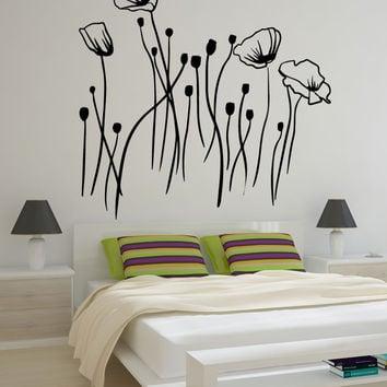 Vinyl Wall Decal Sticker Flower Meadow #OS_MB745
