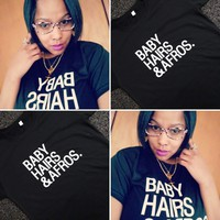 Women's Baby Hairs & Afros T-Shirt
