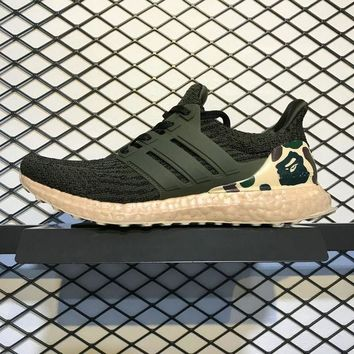 DCCKGV7 Best Online Sale Bape x Adidas Ultra Boost 3.0 Green Camo Sport Running Shoes