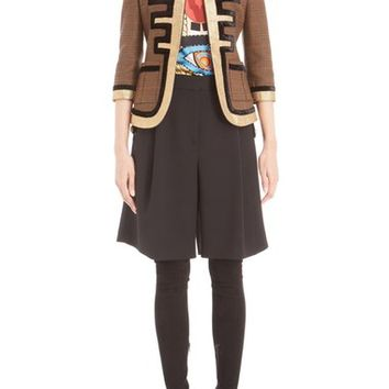 Givenchy Prince of Wales Check Fitted Wool Military Jacket | Nordstrom