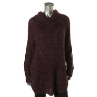 Free People Womens Knit Cowl Neck Pullover Sweater