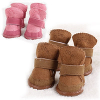 Warm Winter Cozy Pet Dog Boots Puppy Shoes 2 Colors For Dog SIZE #1-5 = 1946898372