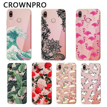 "CROWNPRO 5.84"" Huawei P20 Lite Case Cover Soft Silicone TPU Cute Cover Back Protective Phone Case Huawei P20 Lite Coque"