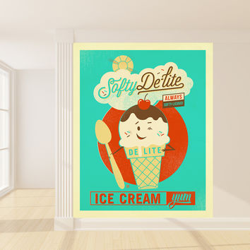 Anderson Design Group's Softy De-lite Ice Cream Mural wall decal