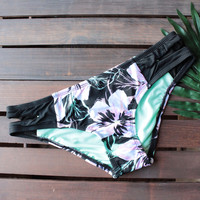 bikini lab - tropic full of sunshine keyhole hipster (bottom only)