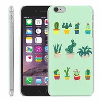 PlusBrite Apple iPhone 6 Phone Case - [Slim Snap On] - Cactus Plants - Various