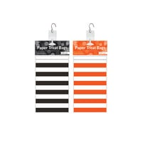 Orange/Black 24 Pk Paper Treat Bag Clip Strip Display