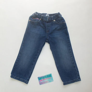 MOSCHINO Gently used vintage boys denim jeans size 18-24months swag hip boutique designer