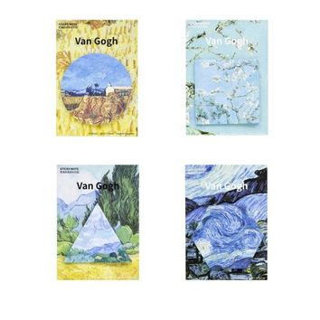 4 pcs/Lot Van Gogh oil painting sticky notes Starry Night memo pad Post it stickers Stationery Office School supplies A6763