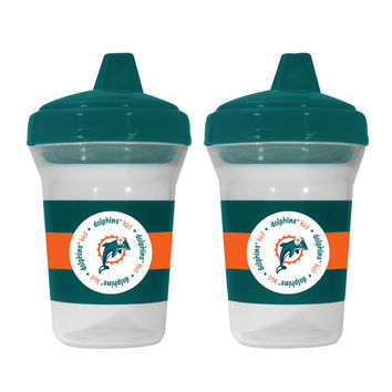 Baby Fanatic 2-Pack Sippy Cups - Miami Dolphins