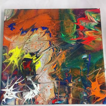 Celebration in Living Color Abstract Art Painting