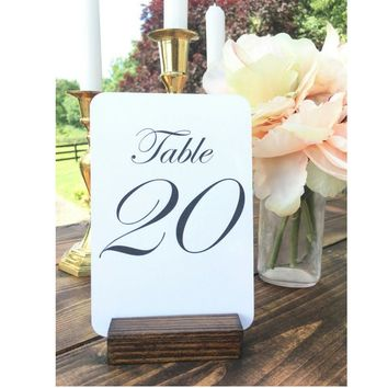 Table Number Holders, Rustic Table Number Holder (Set of 30) On SALE