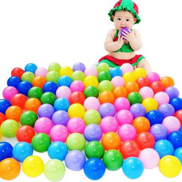 DCCKL3Z 100 Pcs/lot Eco-Friendly Colorful Ball Soft Plastic Ocean Ball Funny Baby Kid Swim Pit Toy Water Pool Ocean Wave Ball