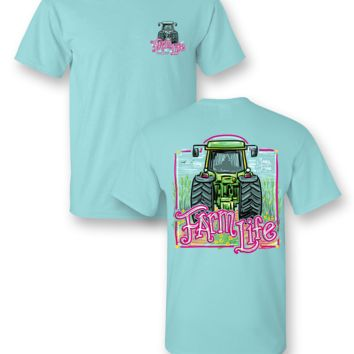 Sassy Frass Farm Life Tractor Country Bright Girlie T Shirt