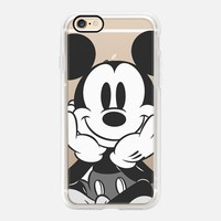 Cute Casetify iPhone 7 Case | Black - White Mickey Design by The Olive Tree (iPhone 6s 6 Plus SE 5s 5c & more)