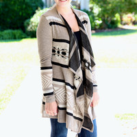 All or Nothing Cardigan - Taupe