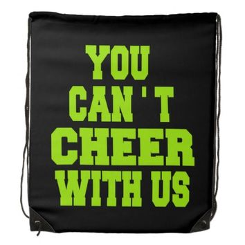 Cheerleading drawstring backpack