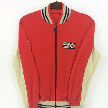 Fila Bjorn Borg Track Jacket, Fila BJ Sweatshirt Red Sport Trainer Small