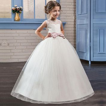 Summer Flower Girl Dress Ball gowns Kids Dresses For Girls Party Princess Girl Clothes For 5 6 7 8 14 Years Birthday Dress