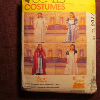 SALE Uncut 1995 McCall's Sewing Pattern, 7766! 5-6 Toddler/Girls/Kids/Child The Swan Princess Dress up Halloween Costumes/Renaissance/Reenac