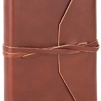 Brown Leather Medieval Wrap Journal w/Tie