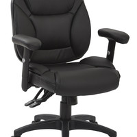 Work Smart™ Black Faux leather Multifunction Office Chair, KD