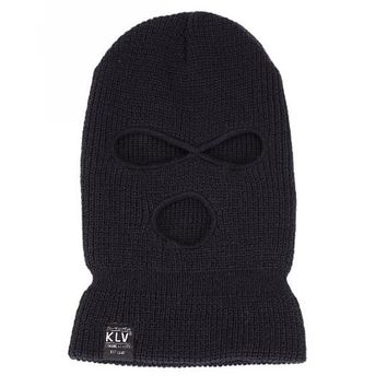 [16462] Men Double Layer Knitted Face Mask