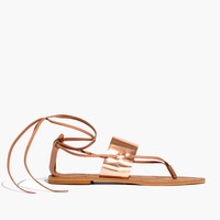The Katya Lace-Up Thong Sandal