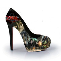 Legend of Zelda: Twilight Princess High Heels Handpainted