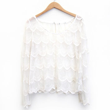 Mary Poppins Lace Blouse