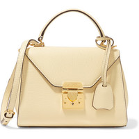 Mark Cross - Hadley baby textured-leather shoulder bag